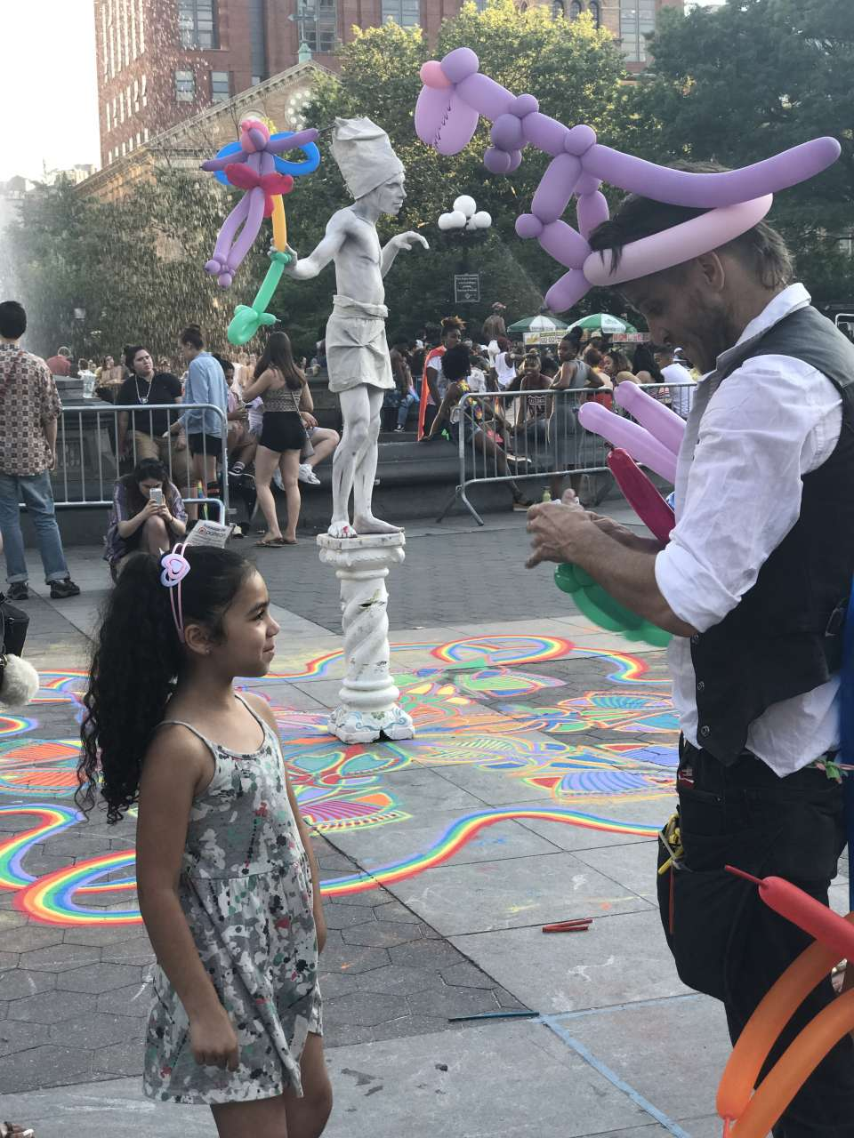 girl-India-Jolie-waiting-for-balloon-character-in-washington-square-park